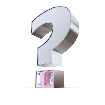 Metallic Euro Question Mark