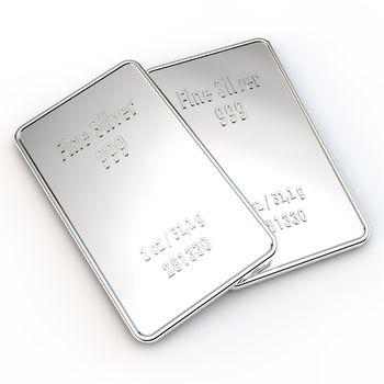2 Mini Silver Bars - 1 ounce