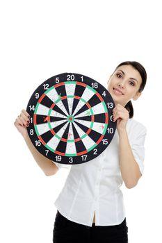 with dartboard