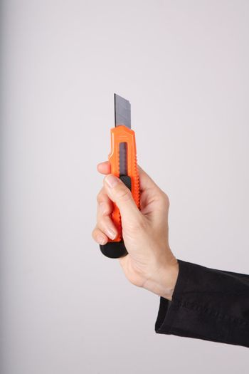 isolated cutter on hand