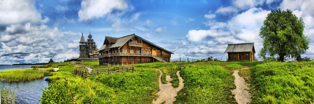The wooden buildings of the ancient Russian architecture