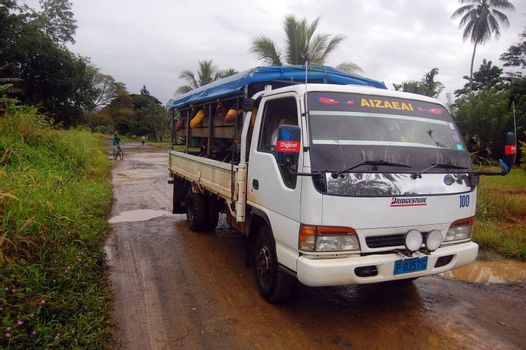 Public transport (witch is called PMV) in Papua New Guinea
