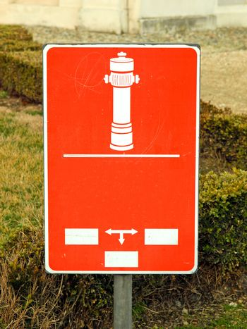 Fire hydrant sign