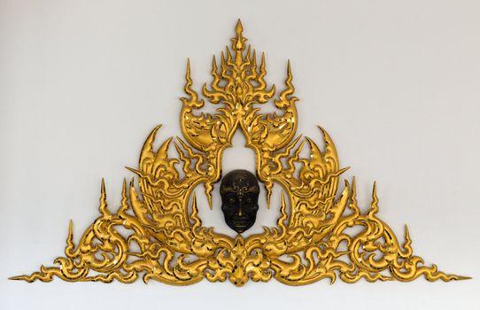 Golden Thai style stucco