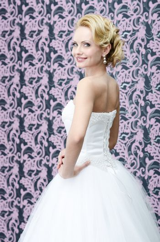Smiling bride portrait