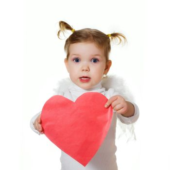 Cupid with heart