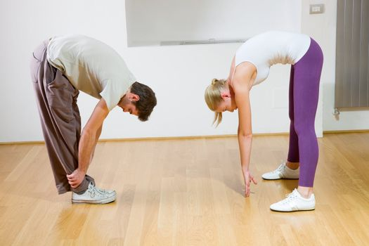 couple stretching