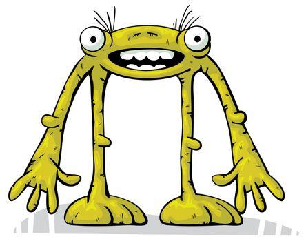 Green alien creature standing