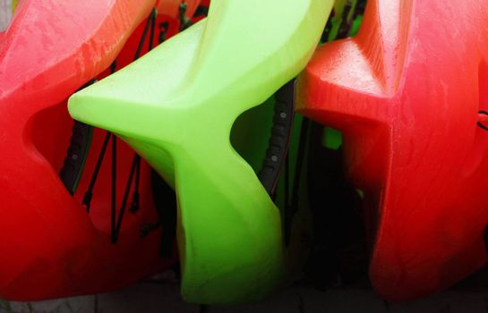 red and green kayaks for rent