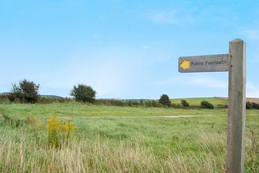 Public Footpath in Countryside