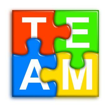 Combined multi-color puzzle - team concept 2