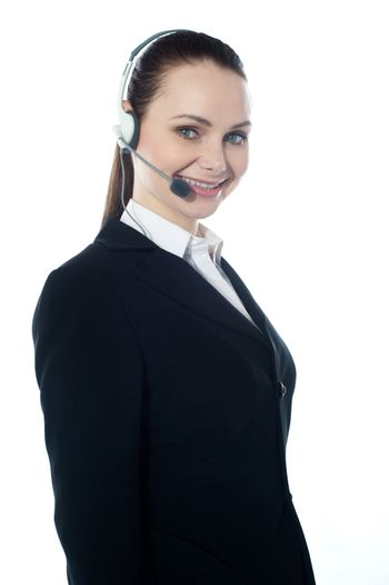 Telemarketing executive offering product to customer