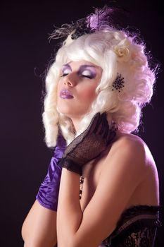 Burlesque girl portrait