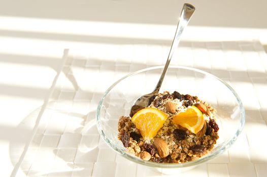 Nutritious bowl of muesli