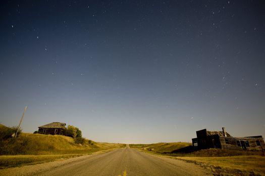 Night Shot Abandoned house