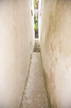 narrow street at a village in Girona