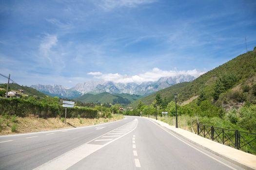 road to Picos de Europa mountains