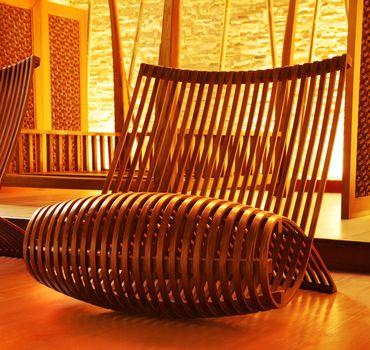 Wooden modern designed chair
