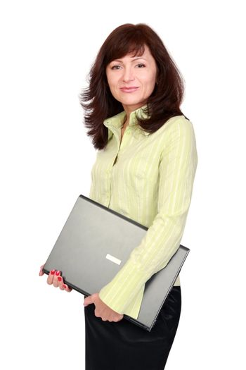 The graceful woman with laptop