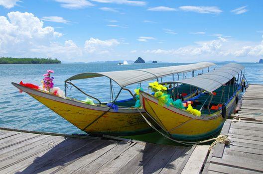 longtail boats, Andaman Sea,