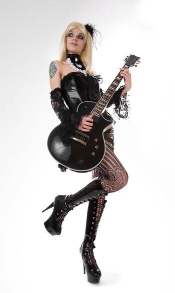 Sexy girl with guitar