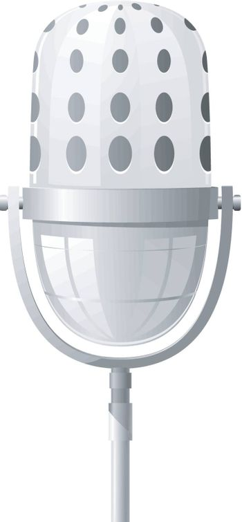 Vector illustration of a microphone at the front