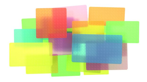 Abstract colored translucent rectangles