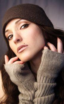Woman in knit