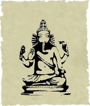 the vector ganesha statue eps 8