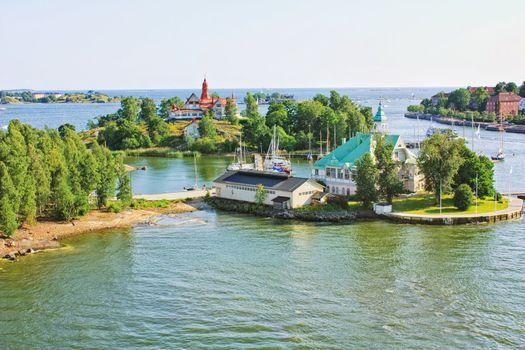 Islands  near Helsinki in Finland
