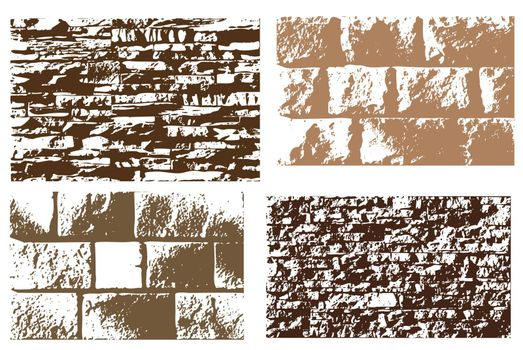 Set of differten stone textures