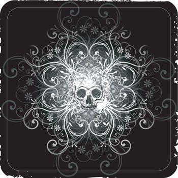 Gothic scroll background