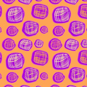 Orange seamless background with squares, vector, illustration