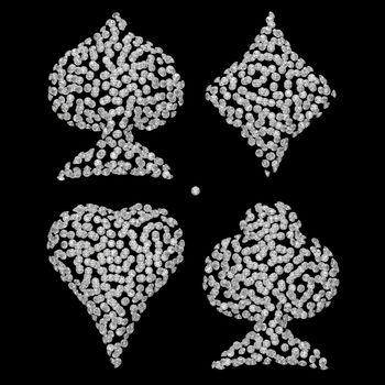 Diamond shaped Card Suits