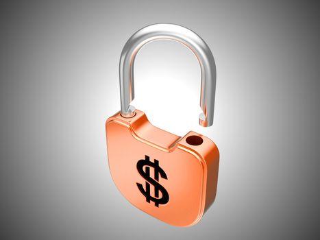 Unlocked lock: US dollar security