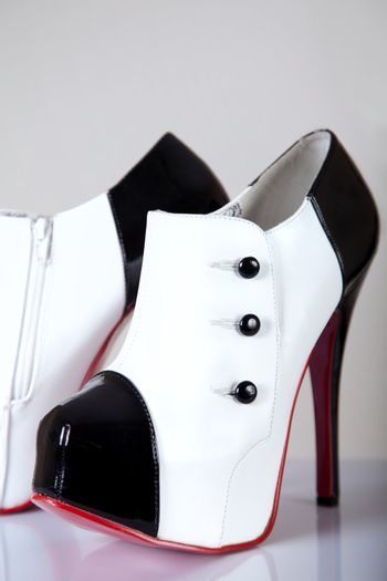 Close-up shot of sexy female shoes