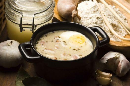 Sourdough, zur, zurek - component of a traditional Polish soup