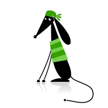 Fashion dog silhouette for your design