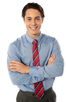 Professional business executive, portrait. Arms folded