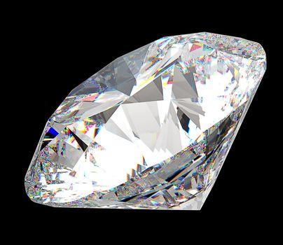 Precious gem: large diamond over black