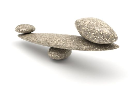 Harmony and Balance: Pebble stability scales