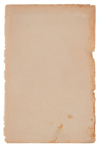 Old paper sheet on white background