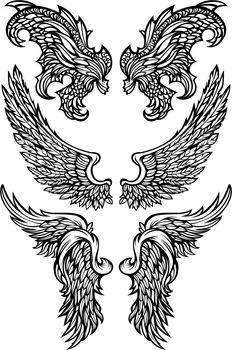 Angel Wings & Demon Wings Vector illustrations