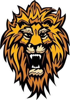 Lion Head Graphic Mascot Illustration