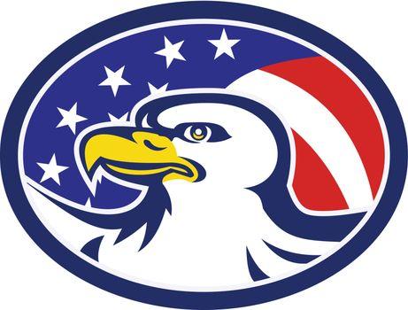 American Bald Eagle Stars Stripes Flag