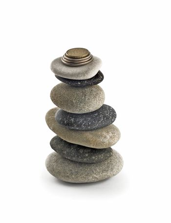 Stability and welfare - stack or tower with coins