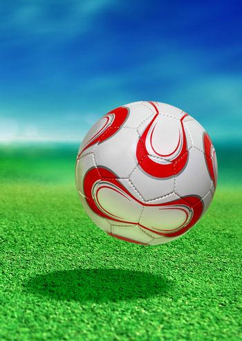 soccer ball with path
