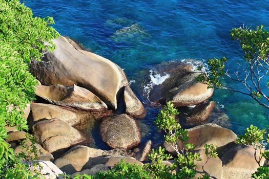 Similan Rock on The Beach,Paradise island located at south of Th