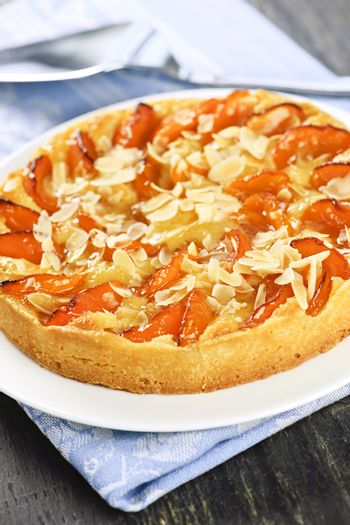 Apricot and almond pie