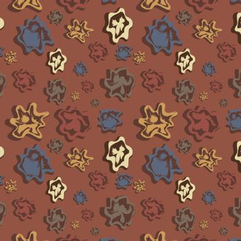 Brown background with varicoloured figures, vector, illustration